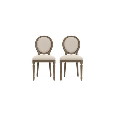 Louis Set of 2 Dining Chairs French Beige