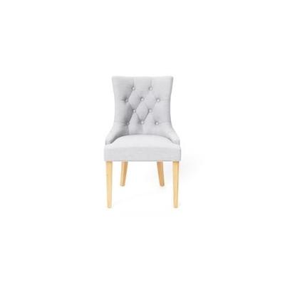 Espen Scoop Back Dining Chair Natural Solid Beech Cloud Grey