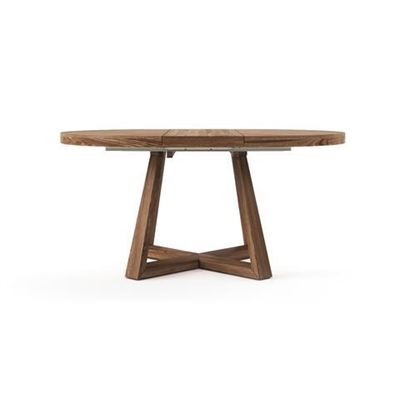 Parc Extendable Dining Table 120/160cm Buff Brown Oak Wood