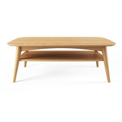 Mia Coffee Table with Shelf Scandi Oak Wood