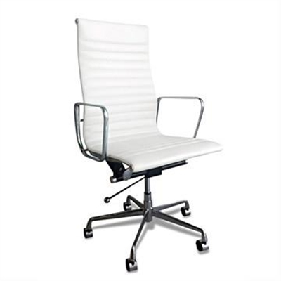 Executive Eames Replica Leather Office Chair - White Premium