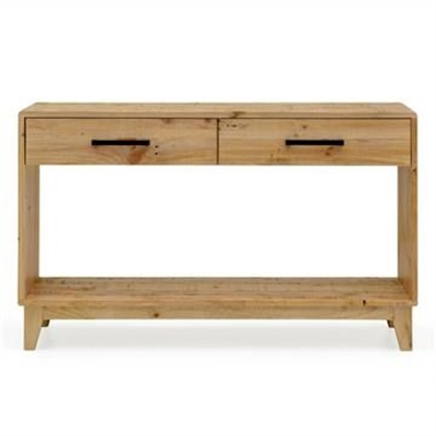 Portland Recycled Pine Timber 130cm Hall Table with Shelf