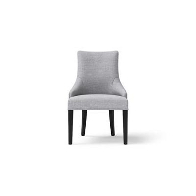 Zoe Scoop Back Dining Chair Black Solid Beech Cloud Grey