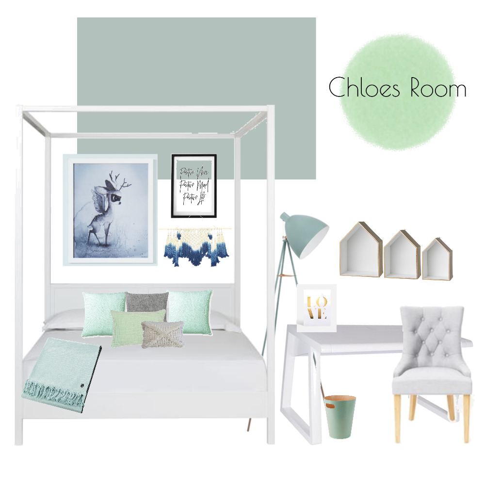 Chloes Room Interior Design Mood Board by Clare on Style Sourcebook