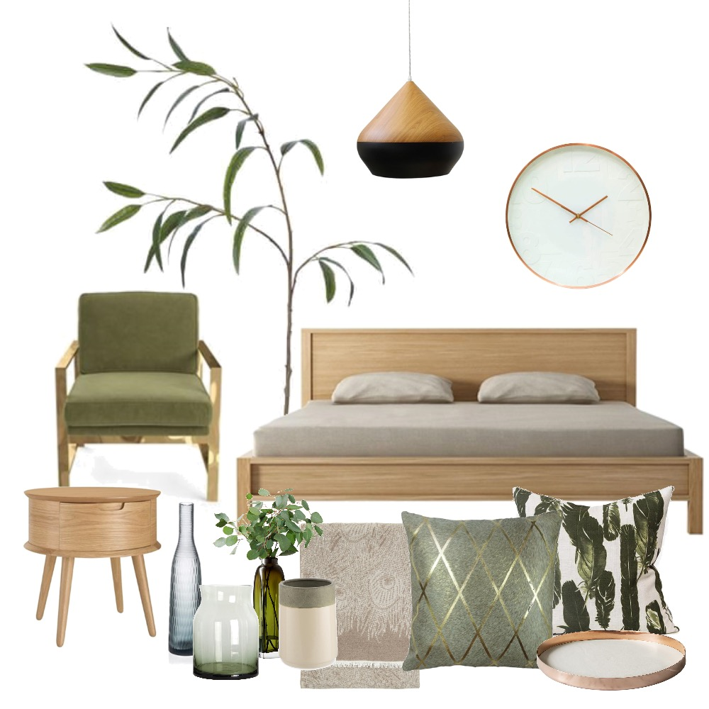 Eucalyptus Bedroom Interior Design Mood Board by elkprints on Style Sourcebook