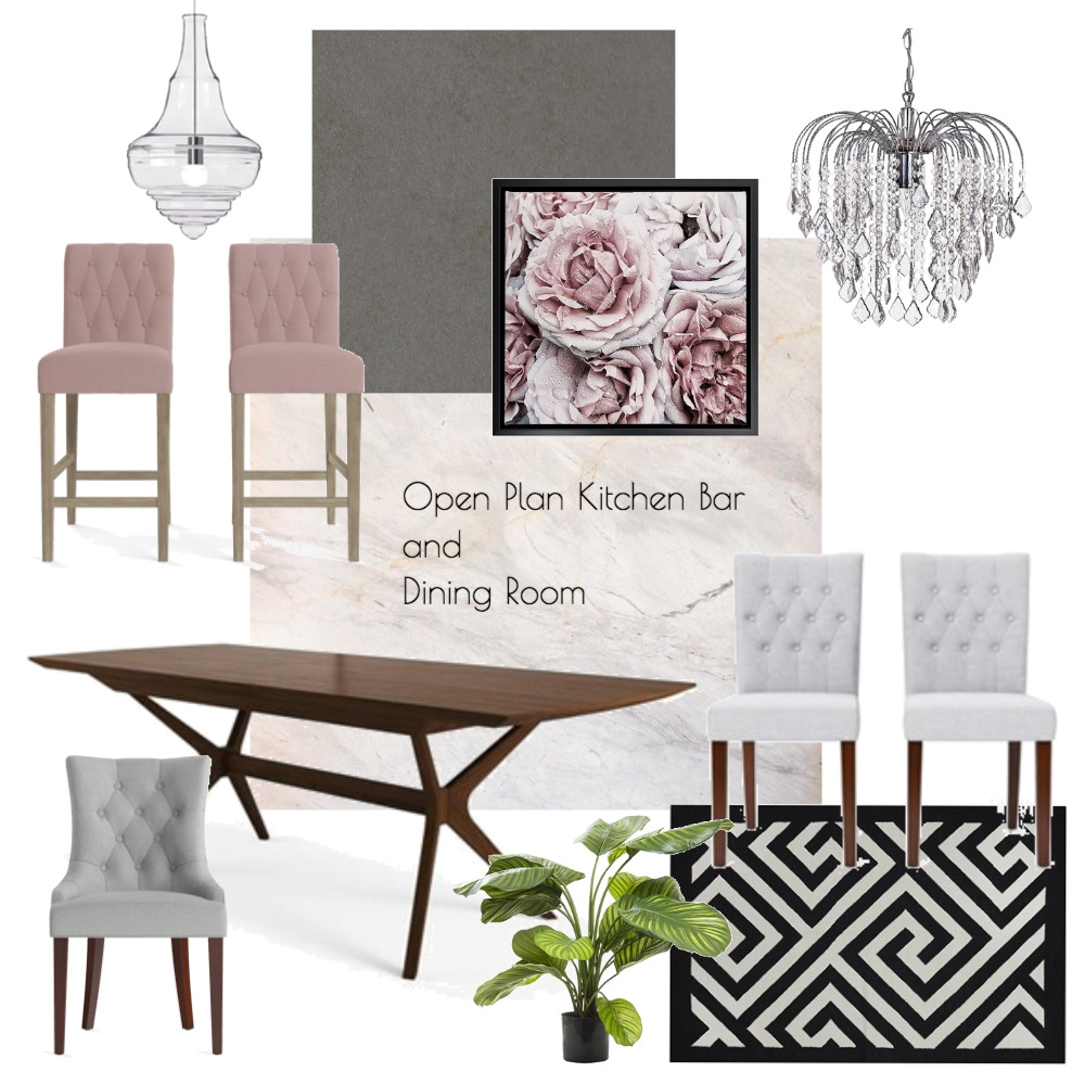 Lina and Quang Open Plan Kitchen Dining Interior Design Mood Board by Plush Design Interiors on Style Sourcebook
