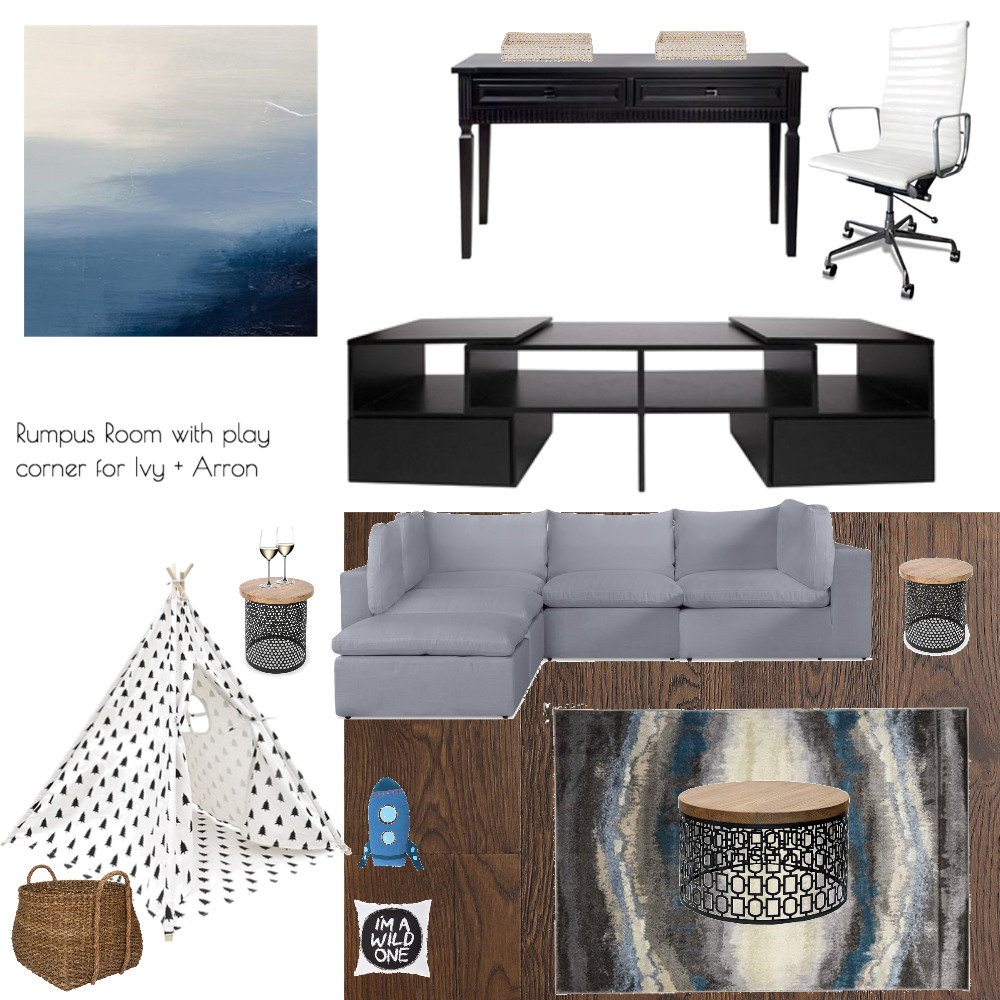 Lina and Quang Rumpus Room w/ play area Interior Design Mood Board by Plush Design Interiors on Style Sourcebook