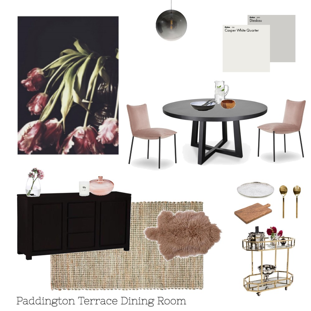 Paddinton Terrace Dining Room Interior Design Mood Board by indistylingco on Style Sourcebook