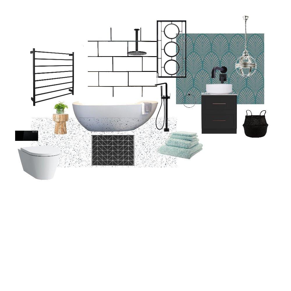 Bathroom Deco Interior Design Mood Board by Harluxe Interiors on Style Sourcebook