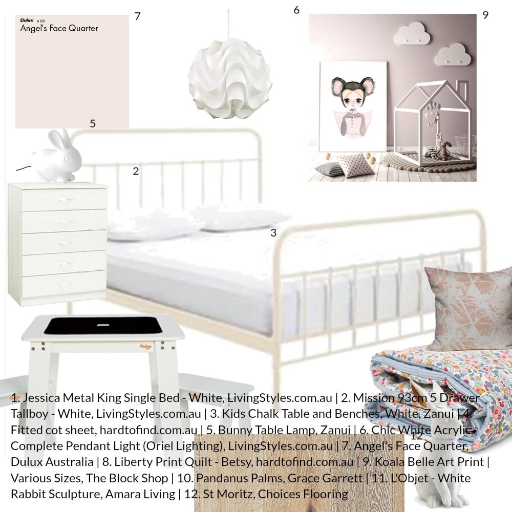 Sweet Dreams Interior Design Mood Board by evelynne on Style Sourcebook