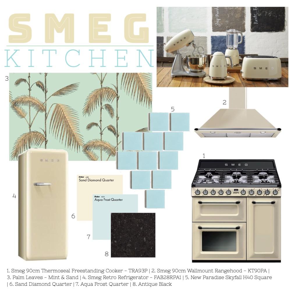 SMEG Kitchen Interior Design Mood Board by ES Abode on Style Sourcebook