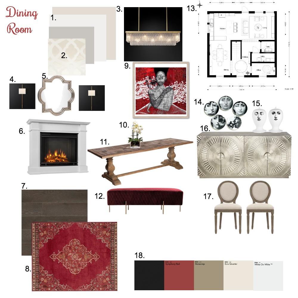 Dining Room Interior Design Mood Board by sepi_fd on Style Sourcebook
