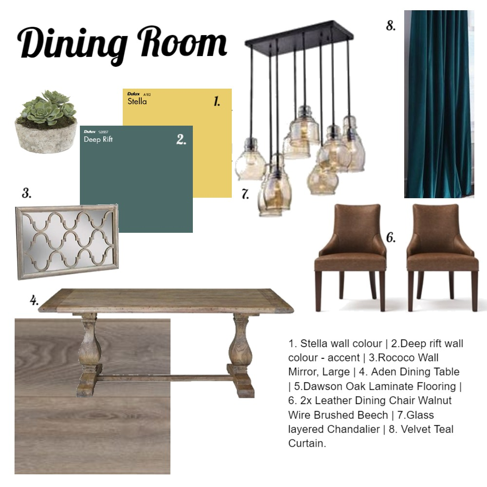 Dining Room Interior Design Mood Board by KerriJean on Style Sourcebook