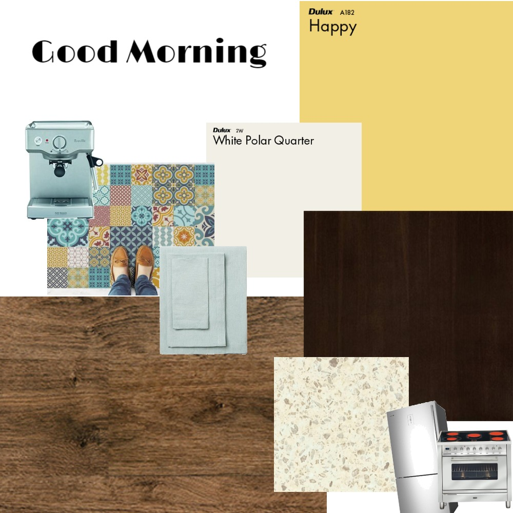Cheerful Kitchen Interior Design Mood Board by KozmicDesigns on Style Sourcebook