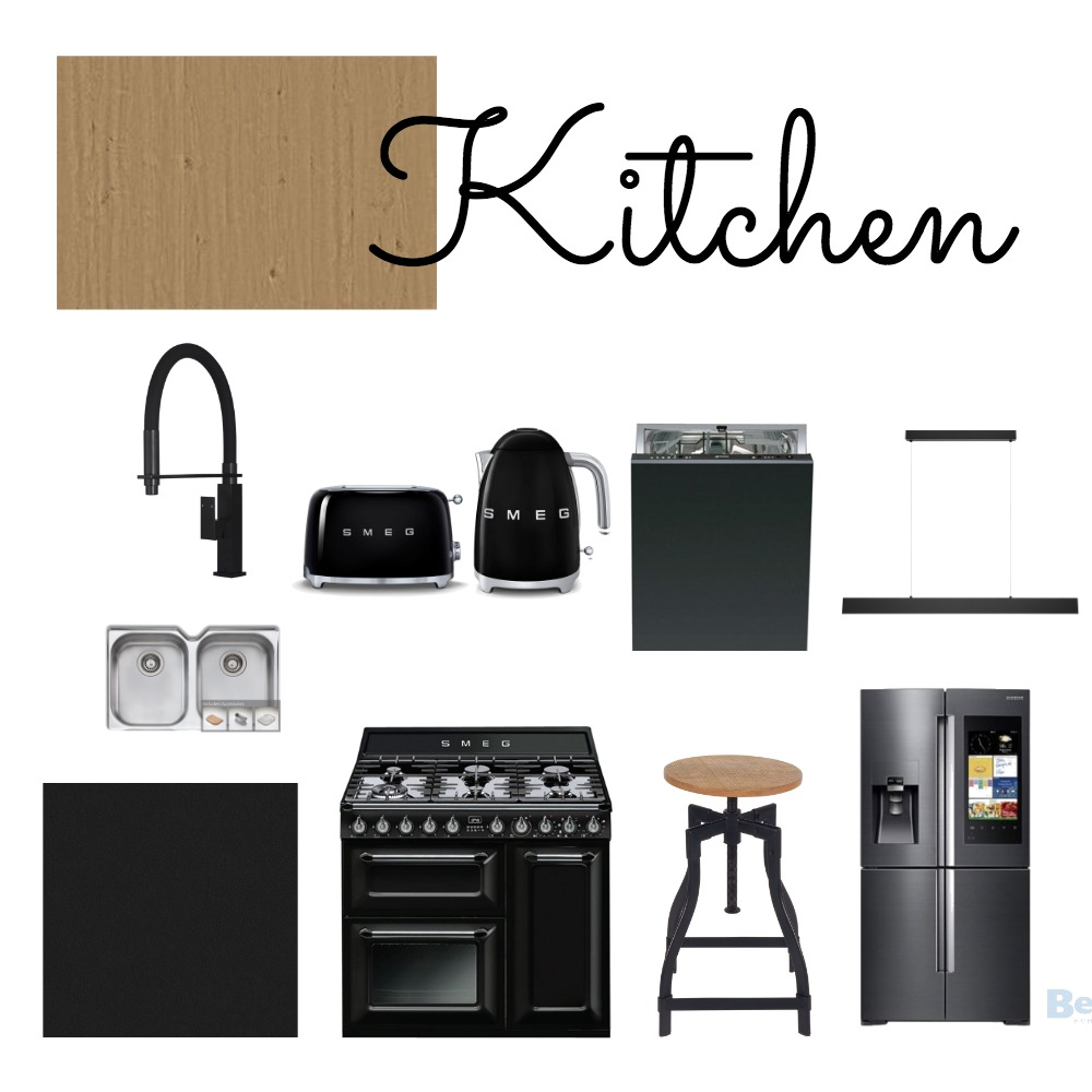 Kitchen - black Interior Design Mood Board by urbanlivingglam on Style Sourcebook