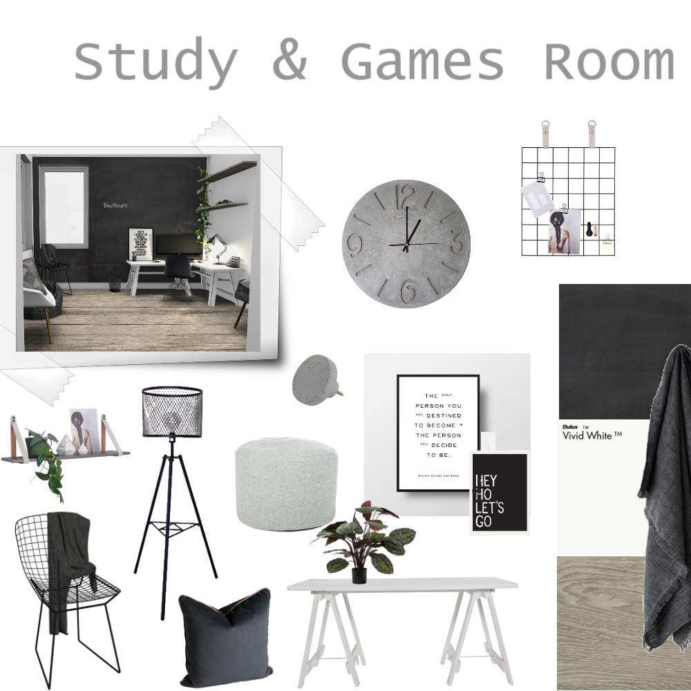 Study & Games Room Interior Design Mood Board by Kez on Style Sourcebook