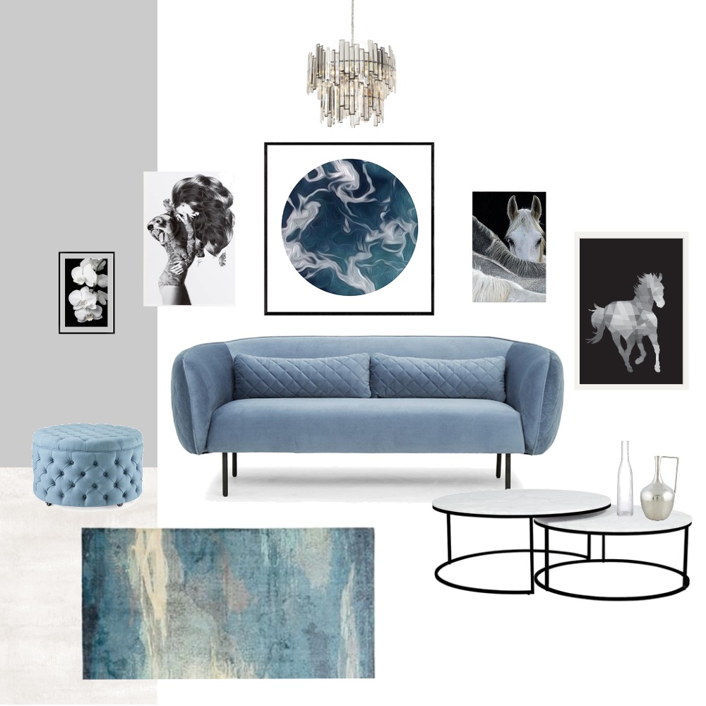Living room blue luxury Interior Design Mood Board by Holi Home on Style Sourcebook