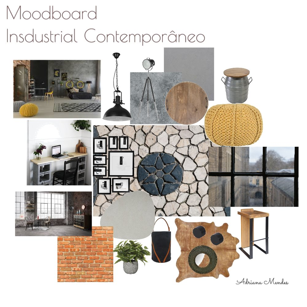 Mood boarde Industrial Contemporâneo Interior Design Mood Board by Dribastos on Style Sourcebook