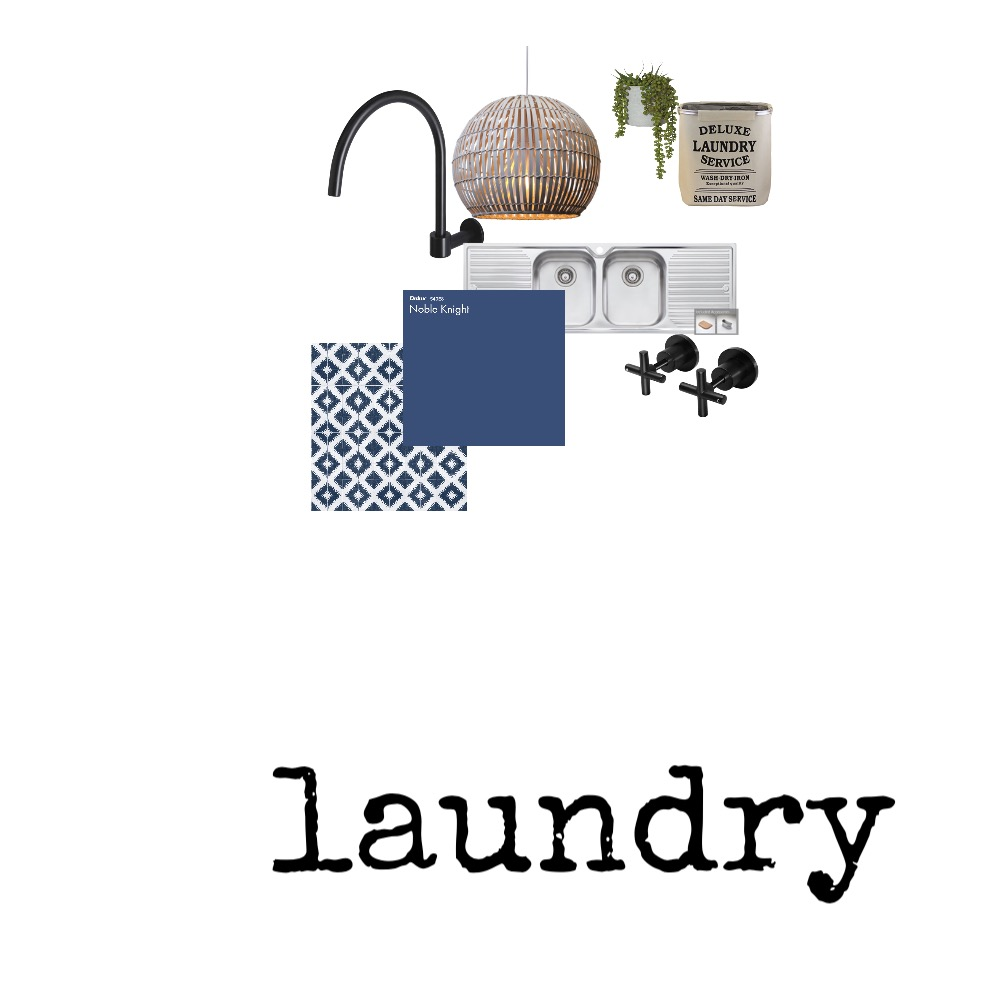 Hamptons Laundry Interior Design Mood Board by StyleChic on Style Sourcebook