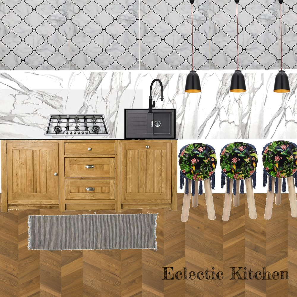 Eclectic  kitchen Interior Design Mood Board by M' Design Architects on Style Sourcebook