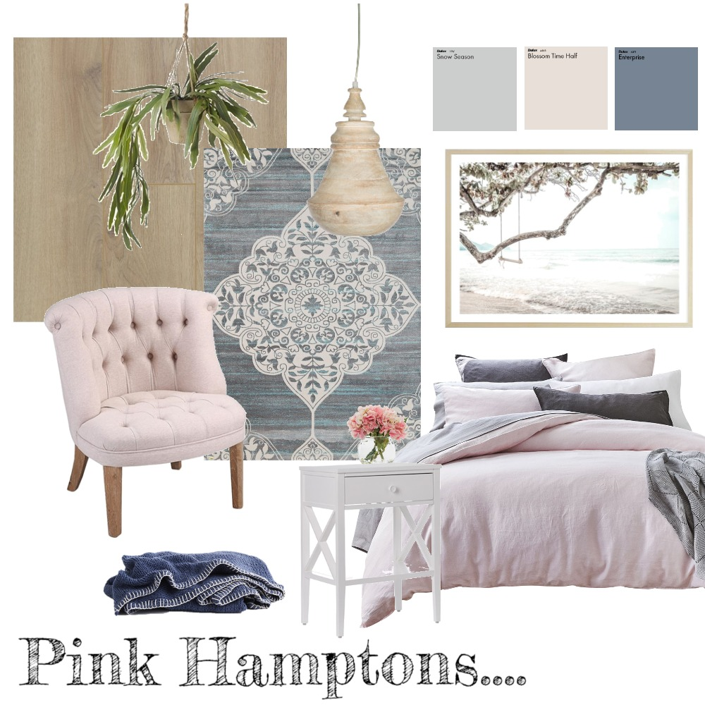 Pink Hamptons Interior Design Mood Board by taketwointeriors on Style Sourcebook