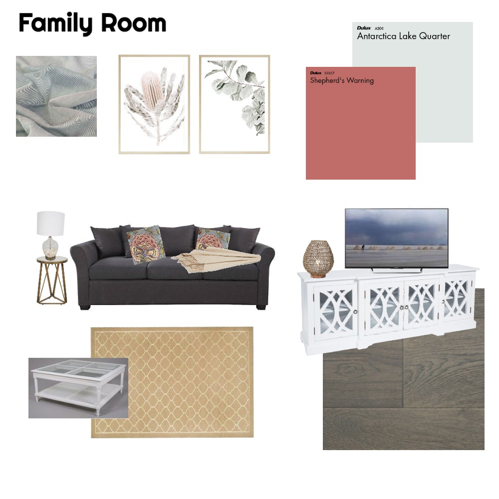 Family Room Interior Design Mood Board by nicstyled on Style Sourcebook
