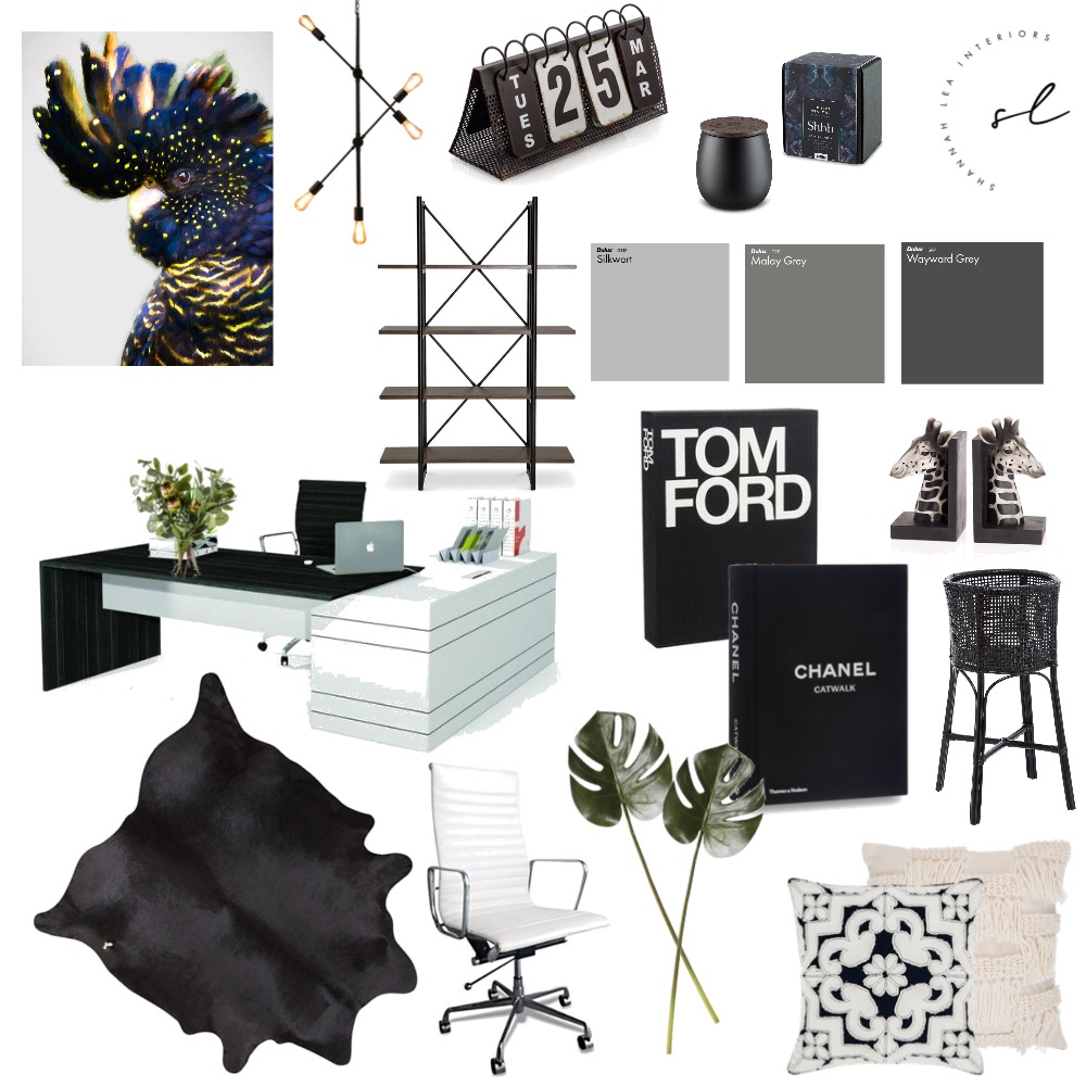HIGH FASHION OFFICE Interior Design Mood Board by Shannah Lea Interiors on Style Sourcebook