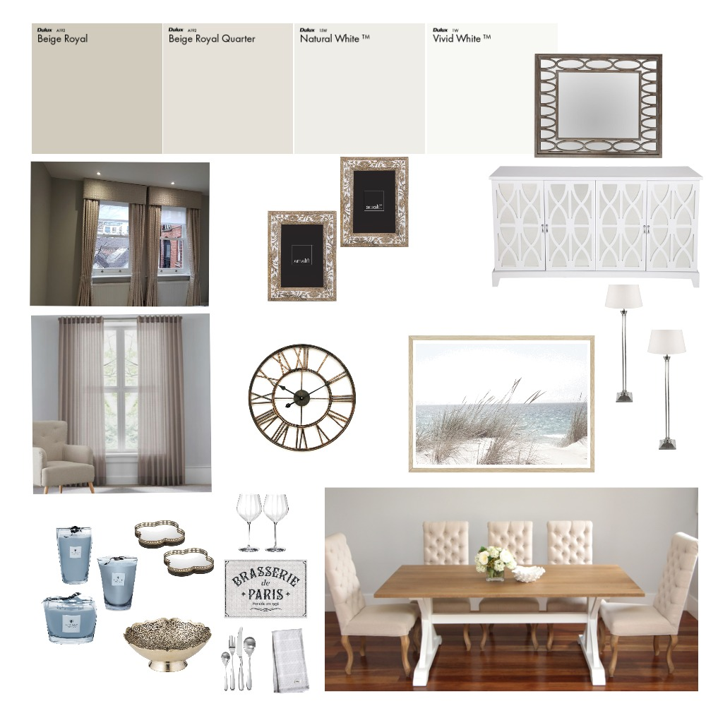 IDI Module 9 Dining Room Interior Design Mood Board by MelanieJane on Style Sourcebook