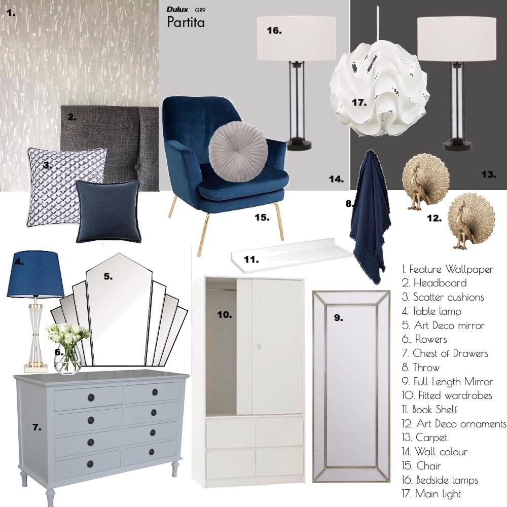 Modern / Art Deco bedroom Interior Design Mood Board by pross80 on Style Sourcebook