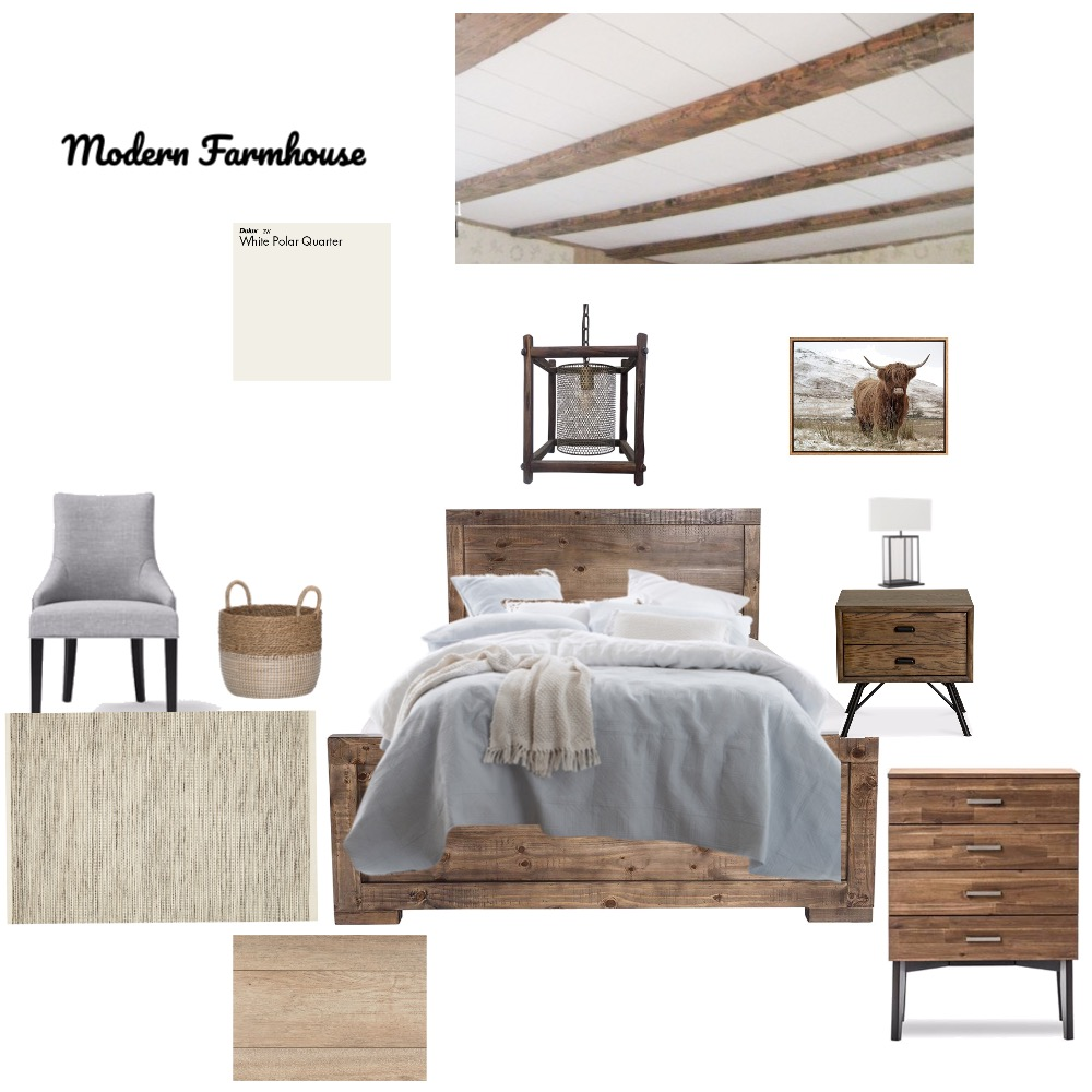 Modern Farmhouse Interior Design Mood Board by MykanMalone on Style Sourcebook