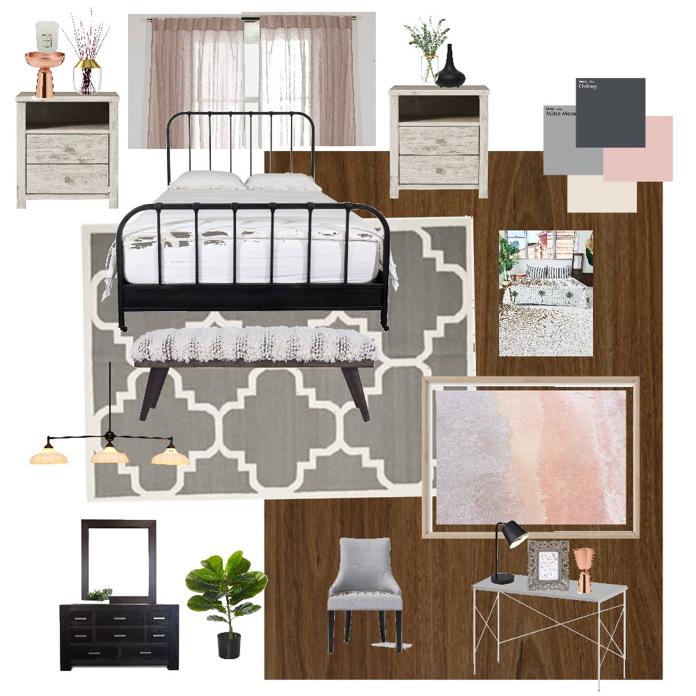 Garay Bedroom Interior Design Mood Board by ANED on Style Sourcebook
