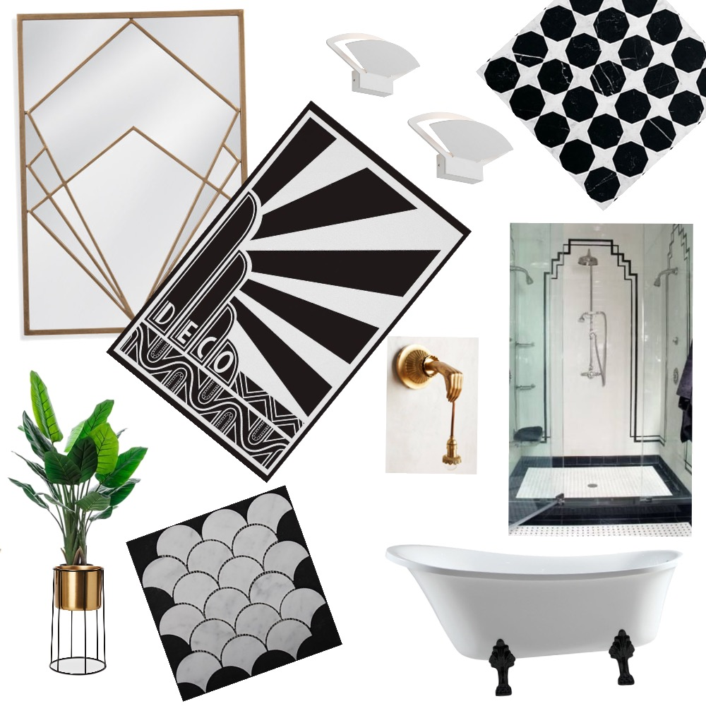 Art Deco bathroom Interior Design Mood Board by yvonnefinlan on Style Sourcebook