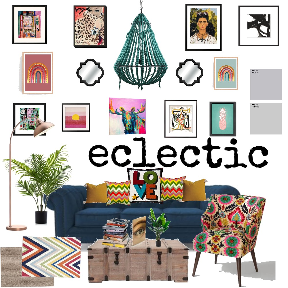 eclectic Interior Design Mood Board by Imogen-D on Style Sourcebook