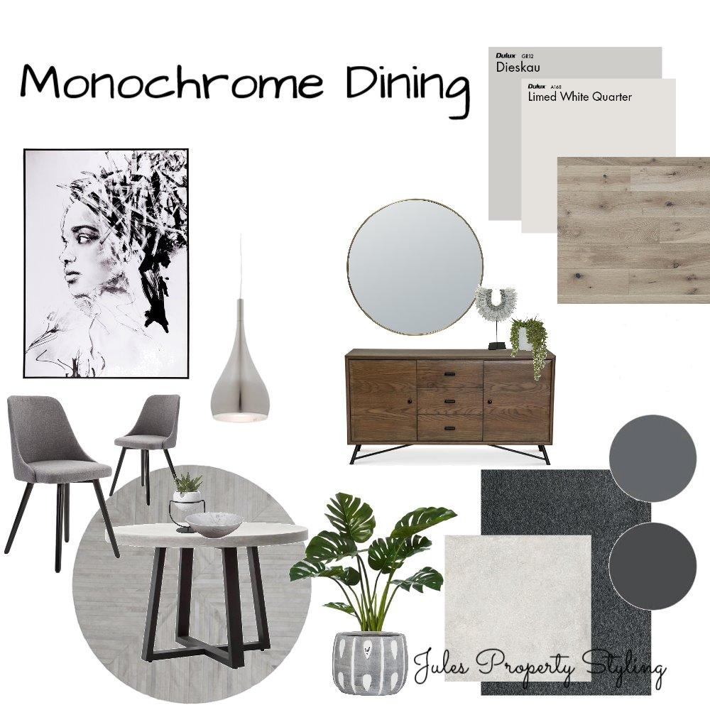 Monochrome Dining Interior Design Mood Board by Juliebeki on Style Sourcebook