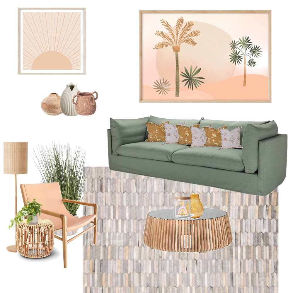 Boho Interior Design Mood Board by Simplestyling on Style Sourcebook
