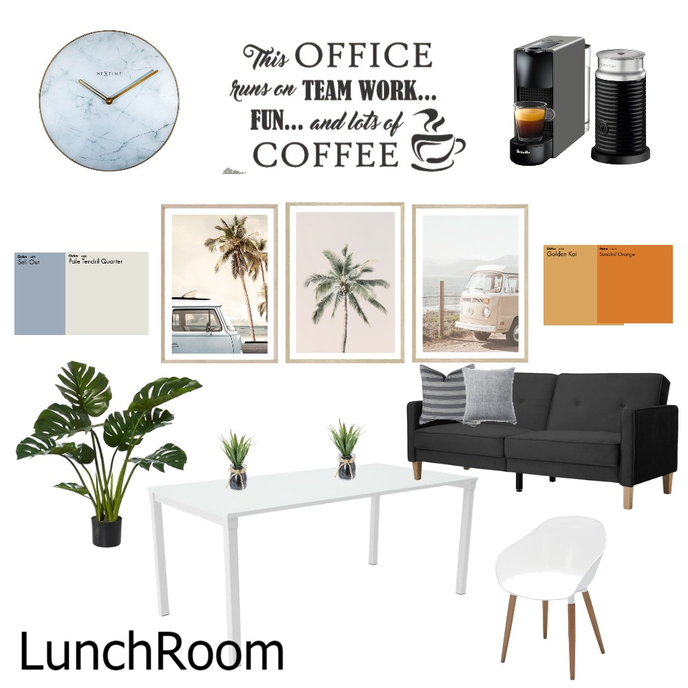 Lunch Room Interior Design Mood Board by leoniemh on Style Sourcebook