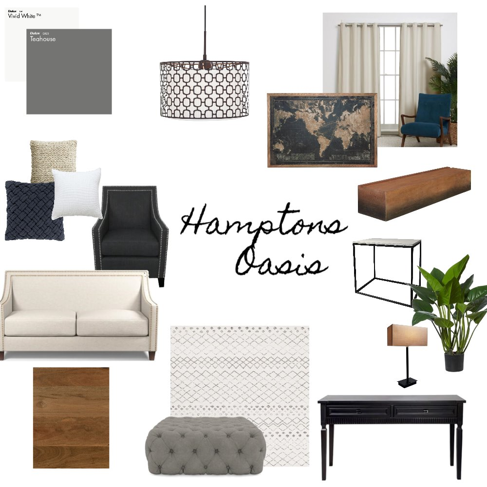 Hamptons Oasis Interior Design Mood Board by SkeltonCo_Design on Style Sourcebook