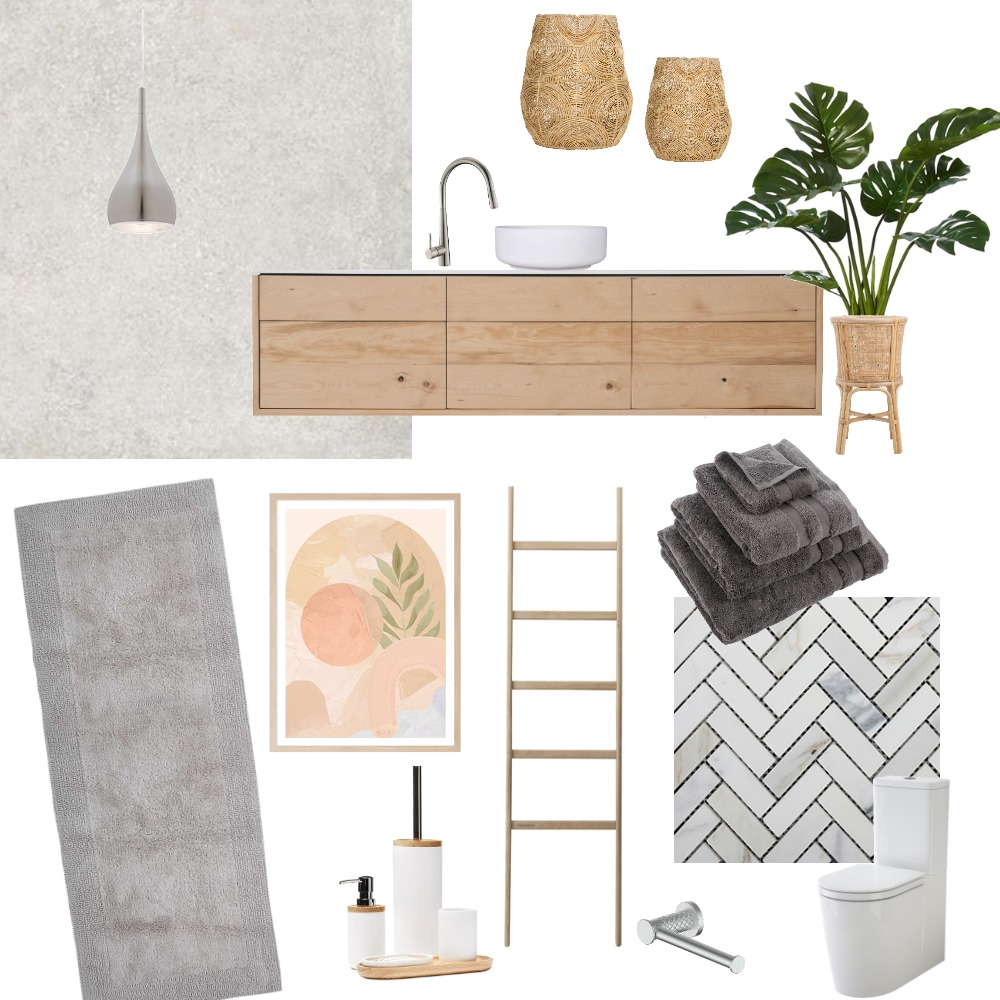 Elm Bathroom Interior Design Mood Board by sdebavay on Style Sourcebook