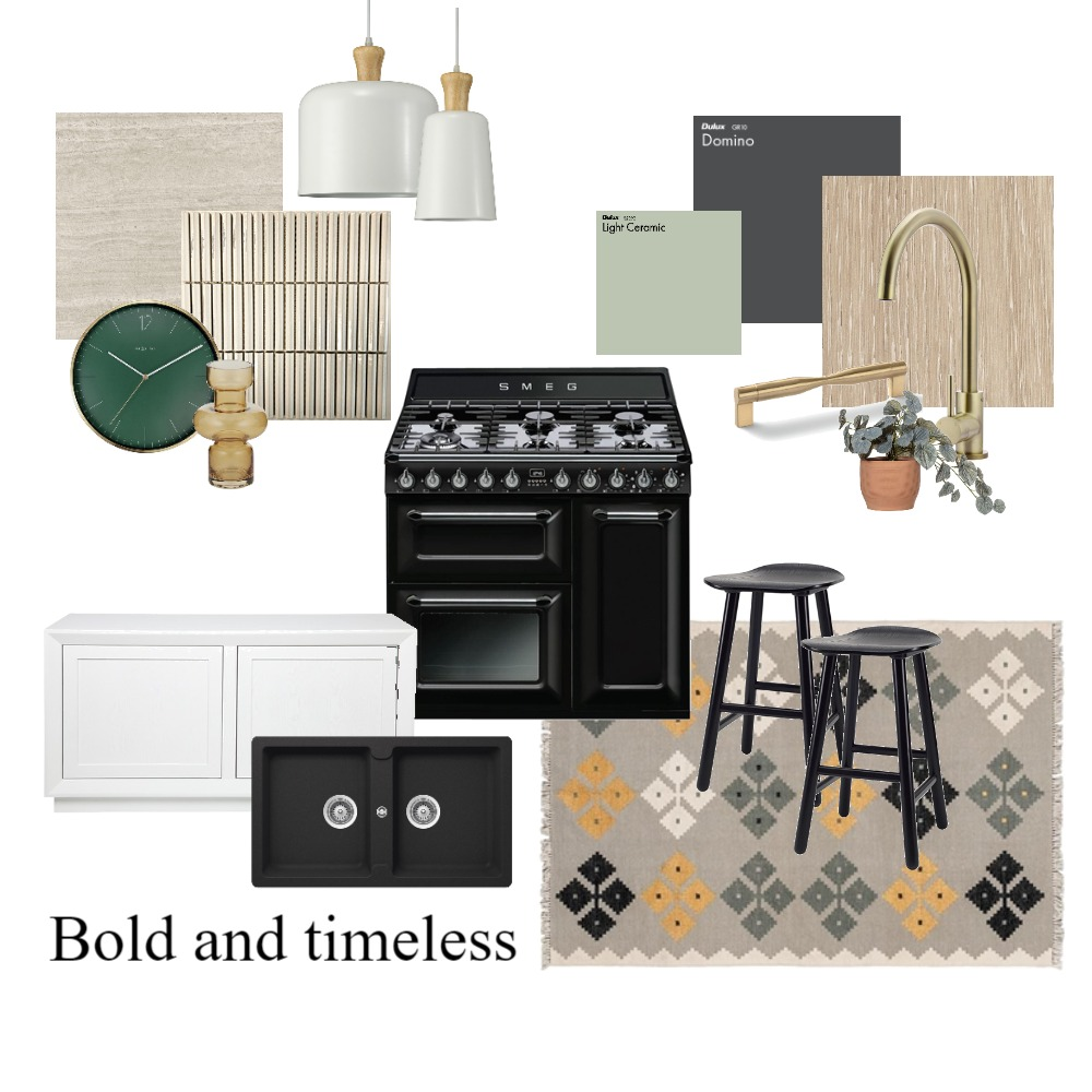 Bold & Timeless Kitchen Interior Design Mood Board by taketwointeriors on Style Sourcebook