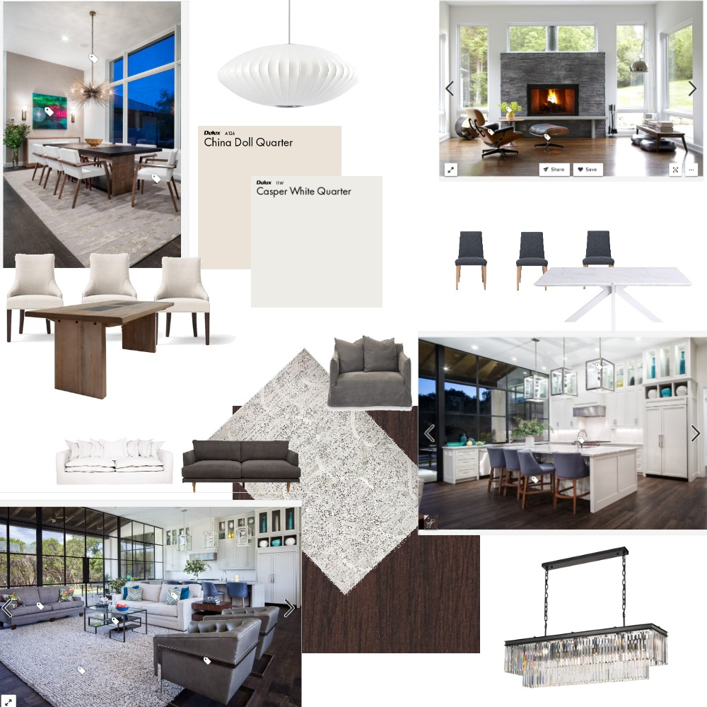 dark wood with gray and beige Interior Design Mood Board by jessytruong on Style Sourcebook