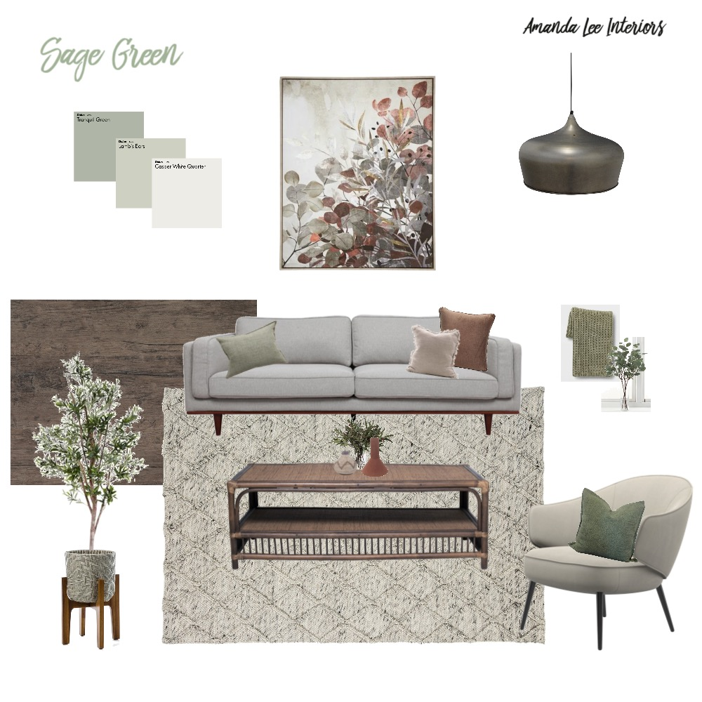 Sage Green Moodboard Interior Design Mood Board by Amanda Lee Interiors on Style Sourcebook